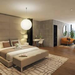 Proyecto  A 1003: Recámaras de estilo  por Grupo Inmobiliario Dofer
