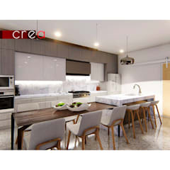 مطبخ ذو قطع مدمجة تنفيذ CREA arquitectos