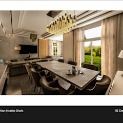 Private residence - Palm Hills Golf:  غرفة السفرة تنفيذ Reham Ezzeldin Design Studio