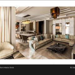 Private residence - Palm Hills Golf:  غرفة المعيشة تنفيذ Reham Ezzeldin Design Studio
