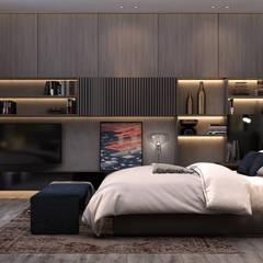 :  غرفة نوم تنفيذ STUDIO PARADIGM, حداثي