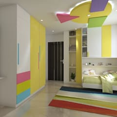 Residential Work :  Girls Bedroom by JC INNOVATES