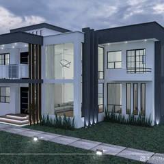 Дома на одну семью в . Автор – Insitun Arquitectos, Минимализм Бетон