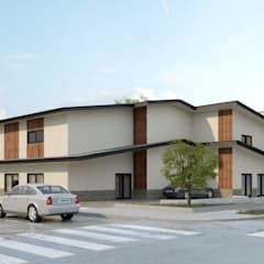 New 3 story congregate living health facility building - Structural engineering:  Hospitals by S3DA Design, Classic