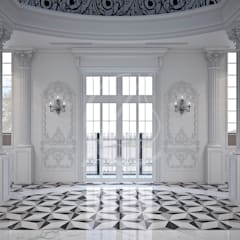 Neoclassical Palace Design:  Corridor & hallway by Comelite Architecture, Structure and Interior Design