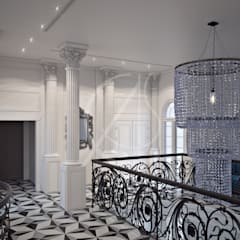 Neoclassical Palace Design:  Corridor & hallway by Comelite Architecture, Structure and Interior Design , Classic