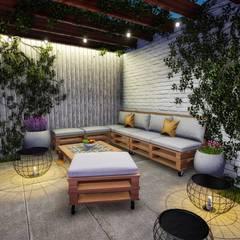 Terraza: Terrazas de estilo  por Minkarq. Arquitectura y construcción, Rústico