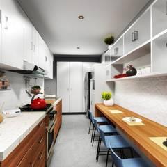 Cocina: Cocinas equipadas de estilo  por Minkarq. Arquitectura y construcción,