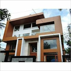 Front Elevation Design - HPL (High Pressure Laminates):  Prefabricated home by 360 Home Interior
