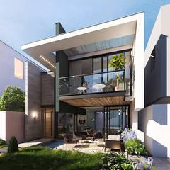 CASA PRADO: Casas de estilo  por INSPIRA ARQUITECTOS, Moderno