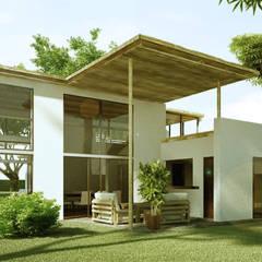 CASA MADERO: Casas de estilo  por INSPIRA ARQUITECTOS,