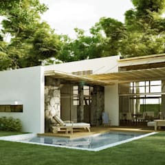 CASA MADERO: Casas de estilo  por INSPIRA ARQUITECTOS, Rústico