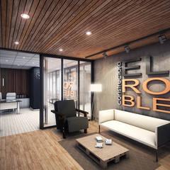 EL ROBLE: Oficinas de estilo  por INSPIRA ARQUITECTOS, Industrial