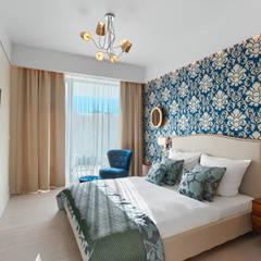 Apartament 128 w Dune B w Mielnie Nowoczesna sypialnia od Tomasz Wachowiec Fotografia Wnętrz Nowoczesny