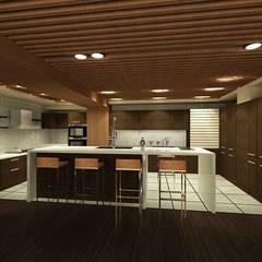 Muebles de cocinas de estilo  por 鼎爵室內裝修設計工程有限公司, Asiático