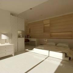 Phòng ngủ nhỏ by 鼎爵室內裝修設計工程有限公司