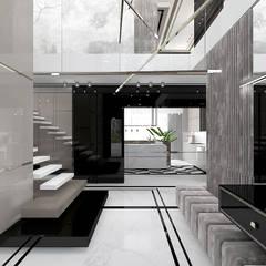 SOTTO VOCE   I   Wnętrza domu Eklektyczny korytarz, przedpokój i schody od ARTDESIGN architektura wnętrz Eklektyczny