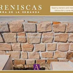 Rock Garden by Areniscas Sierra de la Demanda   - ◉ - SIERRA  Buff  Sandstone  quarries in  Spain, Rustic Stone
