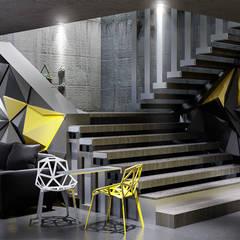 Industrial corridor, hallway & stairs by Onur Çevik Industrial Plastic