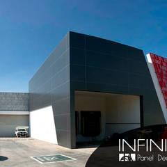 Celosías Metálicas para Fachadas: Edificios de Oficinas de estilo  por Infiniti Panel Decore