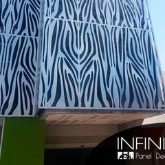 Celosías Metálicas para Fachadas: Hoteles de estilo  por Infiniti Panel Decore