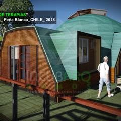 Imagen  objetivo _vista poniente: Casas de madera de estilo  por Incubarq