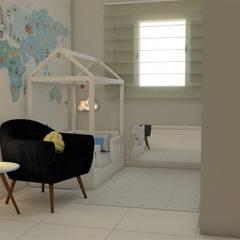 Dormitorios de bebé de estilo  por Bethânia Alves Interiores, Moderno