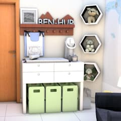 Phòng chăm bé by Bethânia Alves Interiores