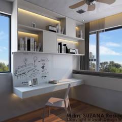 Jalan Mata Ayer:  Small bedroom by Swish Design Works,Scandinavian