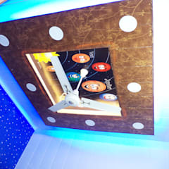 False ceiling done for a kothi in Mohali designed according to rooms Modern bathroom by Mohali Interiors Modern