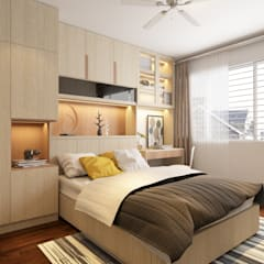 Yishun Ave 6:  Small bedroom by Swish Design Works,