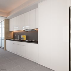 Compassvale Lane:  Built-in kitchens by Swish Design Works