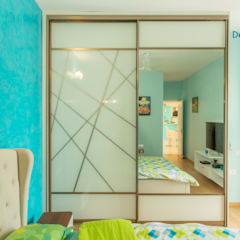 Brigade Meadows, 3 BHK—Dr. Usha & Dr. Mohan:  Small bedroom by DECOR DREAMS
