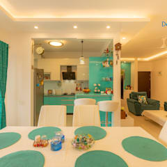 Brigade Meadows, 3 BHK—Dr. Usha & Dr. Mohan:  Dining room by DECOR DREAMS,Modern