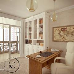 Классическая квартира во французском стиле в ЖК Пресненский вал.: Рабочие кабинеты в . Автор – Iv-Eugenie
