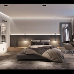 Projekt Wnętrz Domu Nowoczesna sypialnia od BILAR Nowoczesny