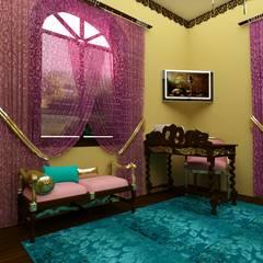 Спальные апартаменты для сестер: Спальни в . Автор – Студия дизайна интерьера 'ЭЛЬ ХОСЕ', Азиатский
