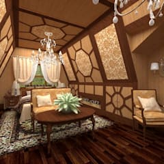 Спальня хозяев: Tерраса в . Автор – Студия дизайна интерьера 'ЭЛЬ ХОСЕ'
