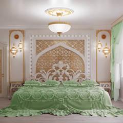 """Квартира """"Мечта Шахерезады"""": Спальни в . Автор – Студия дизайна интерьера 'ЭЛЬ ХОСЕ'"""