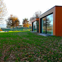 Casas da Lavoeira: Chalets  por GomesAmorim Arquitetura