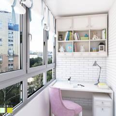 Вилла Авиньон: балконы в . Автор – Мастерская интерьера Юлии Шевелевой, Эклектичный