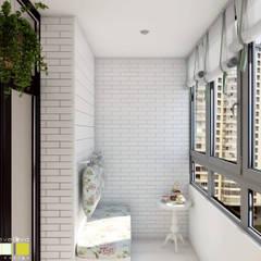Balcony by Мастерская интерьера Юлии Шевелевой
