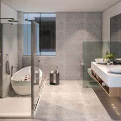 VILLA ROSA TORO: Baños de estilo  por Studio17-Arquitectura,