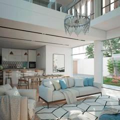 VILLA ROSA TORO: Comedores de estilo  por Studio17-Arquitectura