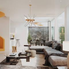 VILLA CUBA: Comedores de estilo  por Studio17-Arquitectura