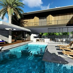 สวนหน้าบ้าน by Fuenttes Knupp Arquitetura e Design