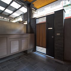 Projekty,  Korytarz, przedpokój zaprojektowane przez 有隅空間規劃所