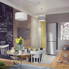 مطبخ ذو قطع مدمجة تنفيذ IvE-Interior, إسكندينافي