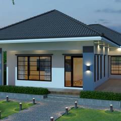 บ้านคุณหยก:  บ้านและที่อยู่อาศัย by บริษัท พี นัมเบอร์วัน ดีไซน์ แอนด์ คอนสตรัคชั่น จำกัด