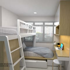 Buangkok Link:  Small bedroom by Swish Design Works,